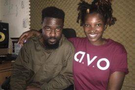 Photo: Sarkodie working on new music with Ebony
