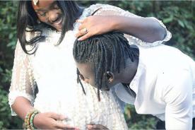 Stonebwoy shares photo of pregnant wife