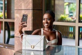 Photo: Fella Makafui reveals new location for wine shop