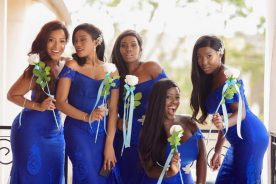 Photos: Joselyn Dumas as Bridesmaid @ Chantelle Asante's White Wedding