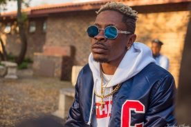 WATCH: Shatta Wale stumbles heading to vehicle after Police bail