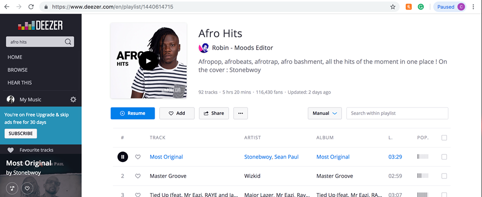 Stonebwoy made face of streaming service Dezeer's 'Afro Hits