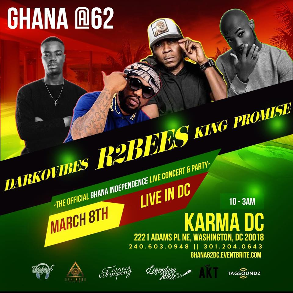 R2Bees to headline Ghana @ 62 concert in the United States