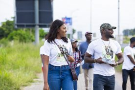 Yvonne Nelson, Prince David promote 'Fix Us' on the streets…
